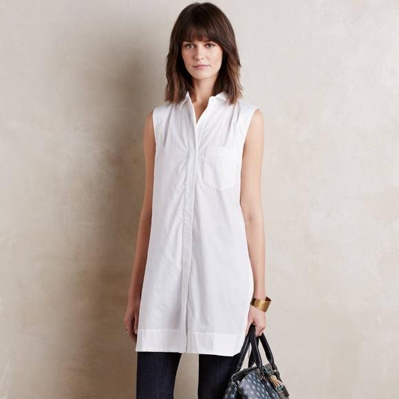 6b6ff9c7e817d Anthropologie Tops -  Anthro  Maeve White Sleeveless Buttondown Tunic